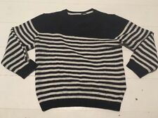 Next Nautical Striped Jumper 18/24 Months Light Knit Cotton Smart Navy White VGC
