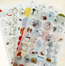6 Molang Rabbit Cartoon Animal Diary Planner Sticker Deco Cute Cartoon Kawaii D2