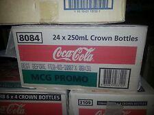 Coca Cola Coke MCG Glass Bottle 250ml Vinyl Wrap NEW Case of 24 SEALED