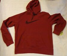 Nike Thermal Fleece Lining Stay Warm,Lg Men,L/S Hood Sweatshirt,Top,Maroon,Exc el