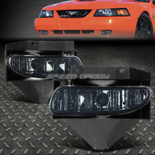 FOR 99-04 FORD MUSTANG GT SMOKED LENS BUMPER DRIVING FOG LIGHT REPLACEMENT LAMPS