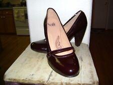 Sofft Burgandy Leather Heels Sz 11 W