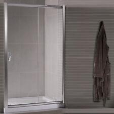 Box doccia porta scorrevole per nicchia 130 in cristallo 6 mm vetro trasparente