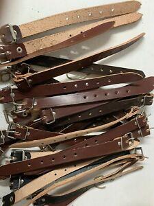 Packriemen Kofferriemen Schnallenriemen Leder dunkelbraun 2,5-3x20x300mm VEB