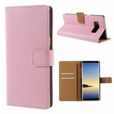 Samsung Galaxy Note 8 Wallet Case Genuine Split Echt Leder Klapp Etui Bag Rosa