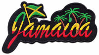 Jamaica Rasta-Fari Reggae Jamaika Fahne Flagge Aufnäher Aufbügler Patch Sticker