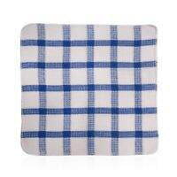 Set of 24 Blue Cotton Chequered Pattern Cleaning Dish Cloths