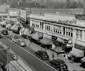 1940s Main Street Shops Westinghouse Shoes Paint Neon Signs Film Camera Negative