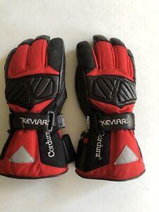 Rjays Leather Black & Red Cordura Hipora Thinsulate Motorcycle Gloves - Medium