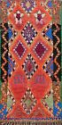 Vintage Tribal Moroccan Oriental Area Rug Vegetable Dye Handmade Plush Wool 5x8
