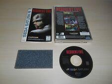 Resident Evil Complete Sega Saturn Game CIB Original