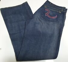 RR Rock & Republic Rhinestone Pockets Low-Rise Flare Jeans for Woman(Size 30x41)