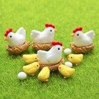 4pcs Garden Ornament Miniature Figurine Craft Plant Pots Fairy Dollhouse  Nue/