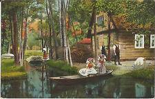 Spreewald, Trachten, Gehöft mit Ziege bei Lehde bei Burg, alte Ak von 1925