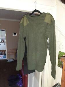 British Army Surplus Grade 1 Green Pullover / Jumper - Wool -  XX Large 124cm