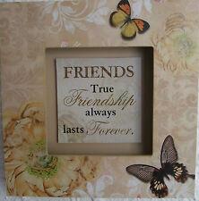 Friends Wooden 3D Plaque FRIENDS TRUE FRIENDSHIP ALWAYS LASTS FOREVER