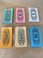 1955 THE GAME OF FINANCE Board Game Parts Parker Brothers Money