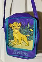VINTAGE Disney The Lion King Mini Purse Pyramid Handbags Simba Bag 1990s Purple