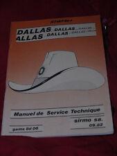 FLIPPER BINGO sirmo Dallas MANUALE ORIGINALE FLIPPER lingua francese