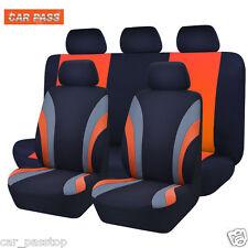 Universal Car Seat Covers Orange Truck SUV Split Rear Seat 40/60 50 Cupholder