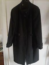 **LAURA ASHLEY** dark green wool/cashmere coat ~ Size 18 ~ freshley dry cleaned