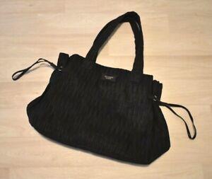 NWOT Victorias Secret Large Black Weekender Beach CarryOn Tote Bag Crepe 20x12x8