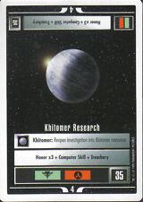 STAR TREK CCG WHITE BORDER PREMIERE 1995 BETA RARE CARD KHITOMER RESEARCH
