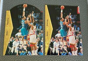 (2) 1995 Upper Deck SP #41 Alonzo Mourning (1 die cut & 1 regular card)