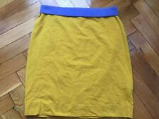 Grüne Erde Organic Fashion Yellow Skirt body line above knee EU 34 XS/S