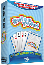 Rules Twist Playing Cards Game Edition - Play hearts, spades, rummy with a twist