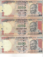 1piece x Genuine 1000 Rp Indian Rupees - BANKNOTE BAN- Modi's war on corruption