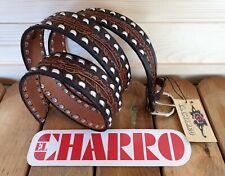 EL CHARRO Cintura in Pelle (4 cm x 128 cm) con Fibbia intercambiabile (PANINARO)