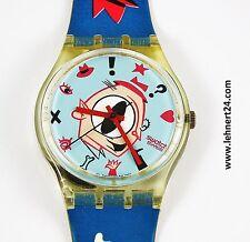 RAR Swatch Gulp GK139 mit neuer Batterie rosa rot weiß blau guter Zustand ! .