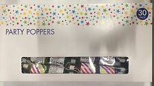30 X PARTY POPPERS PERFECT FOR WEDDING BIRTHDAY STAG CONFETTI - CHEAPEST ON EBAY