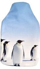 Vagabond Penguins Fleece Hot Water Bottle - Gift Box