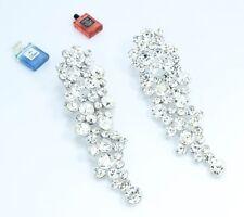 Women Fashion Silver Colour Long Drop Dangle Earrings Design Wear Dainty Jewelry