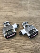 """Time Challenge Pro Bicycle Pedals Road Bike 9/16"""" Clipless White"""
