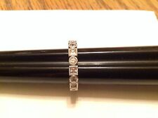 Art Deco Style Sterling Silver With Cubic Zirconium Eternity Band Size 7.75