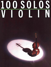 """100 SOLOS-VIOLIN"" MUSIC BOOK-CLASSICAL/BROADWAY/FOLK VIOLIN SOLOS-NEW ON SALE!!"