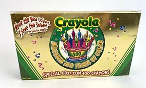 NEW 2002 Crayola Special Edition 100 Years of Color Crayons Gold Box Anniversary