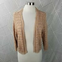 Torrid Plus Size 2X Cardigan Sweater Crochet Lightweight Tan Top