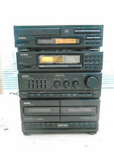 Vintage Aiwa NSX-D3  mini Stereo system with separate CD player DX-N3K & AUX