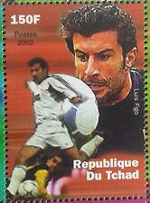 LUIS FIGO PORTUGAL, BARCELONA, REAL MADRID, INTER SOCCER CHAD FOOTBALL MNH **