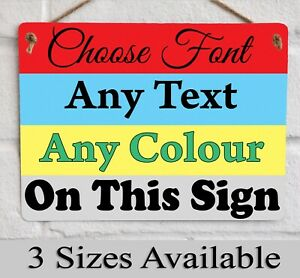 Custom Made Metal Wall Sign Any Text Add Business Logo or Image Personalised