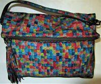 MARMI New York Designer PARK AVE INT'L 4056 Leather 'Kaleidoscope' Bag Purse EUC