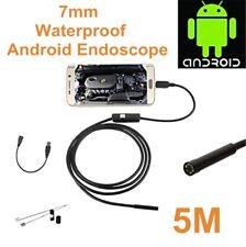 5m 7mm Endoscope Caméra d'inspection étanche Camera pour Android PC
