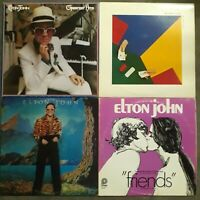 4 ELTON JOHN LPs Greatest Hits 21 at 33 Caribou Friends Soundtrack VG+ / EX