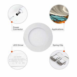 6W Recessed Led Ceiling Down Light Lamp Bulb Fixtures Warm White 3500K 110V-240V
