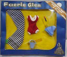 """VINTAGE 1960s in scatola Faerie Glen 9"""" Bambola Outfit Set sulla spiaggia accessori #565"""