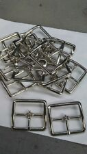 Lot Of 5 Metal Center Bar belt Buckle for 1 3/4 inch belt Shiny Silver Finish